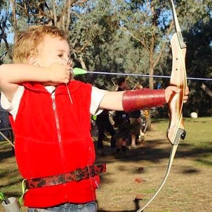 Cub at Archery Practice