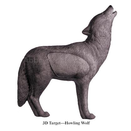 Target 3 D Howling Wolf