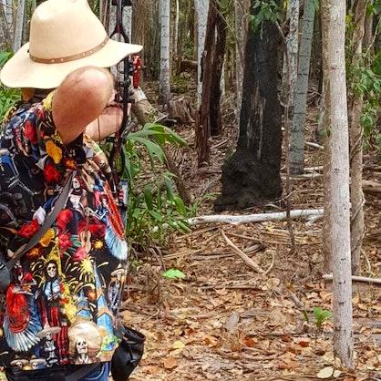 NT Titles 2020 Brad Sawyer aiming at 3 D Deer Target