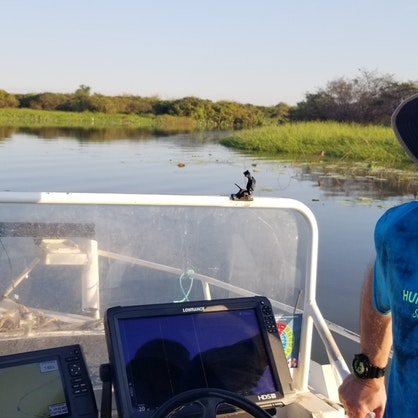 Stuart enjoying the boat trip